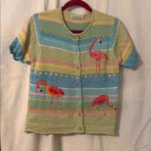 Susan Bristol Flamingo Sweater